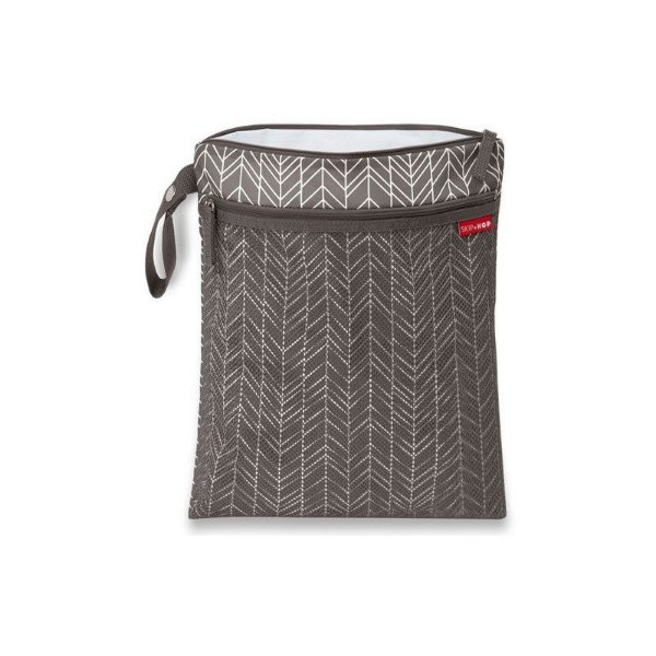 Bolsa (Saco) Wet & Dry Bag Grey Feather Skip Hop