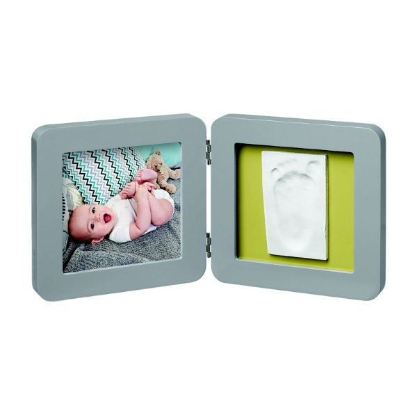 My Baby Touch Porta Retrato com Molde Single Baby Art (Cinza)