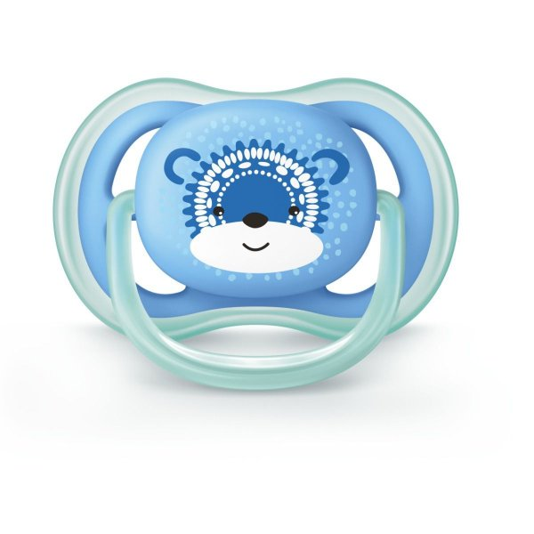 Chupeta Philips Avent Ultra Air 6 a 18 Meses Decorada Azul