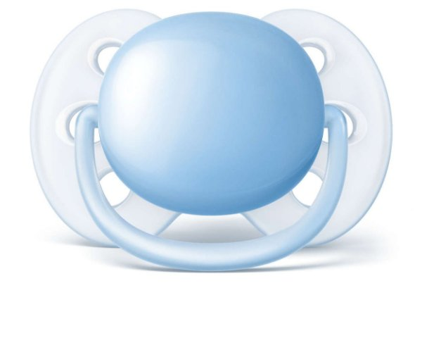 Chupeta Philips Avent Ultra Soft Lisa 6 a 18 Meses Azul (1 unidade)
