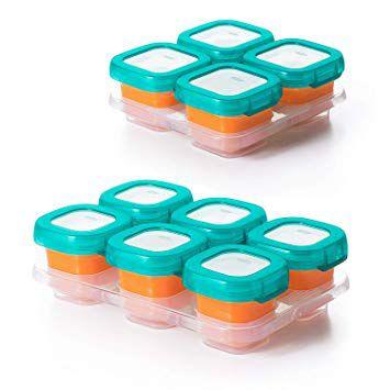 Kit com 10 potes de armazenamento com tampa Oxo Tot (Baby Blocks)