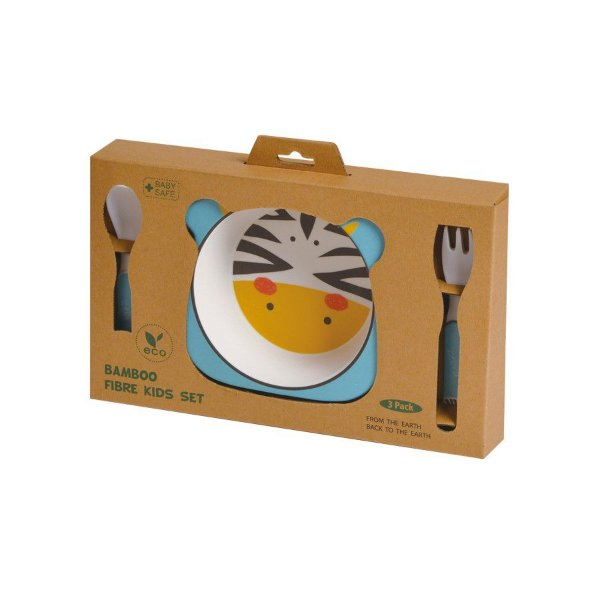 Kit de Alimentação Ecológico com 3 peças Zebra