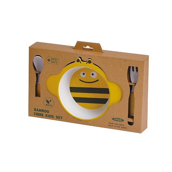 Kit de Alimentação Ecológico com 3 peças Abelha