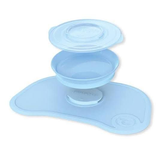 Jogo Americano com prato Azul Pastel TwistShake