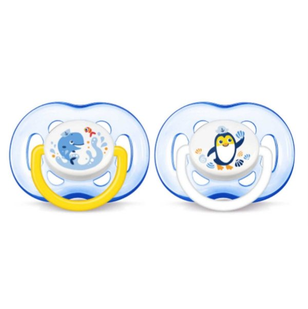 Chupeta Freeflow Dupla + 18 meses Philips Avent - Azul