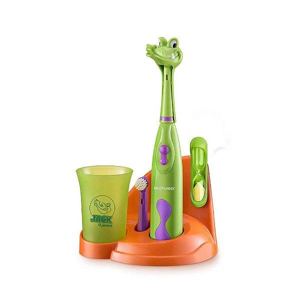 Escova De Dentes Infantil Elétrica Jacaré