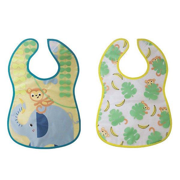 Babador Impermeável Atoalhado Selva Girotondo Baby (2 unidades)
