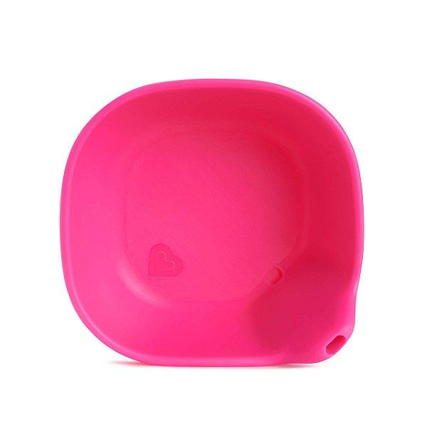 Tigela de silicone Munchkin Rosa Last Drop