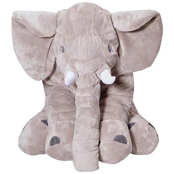 Almofada Elefante Gigante Cinza Shiny Toys