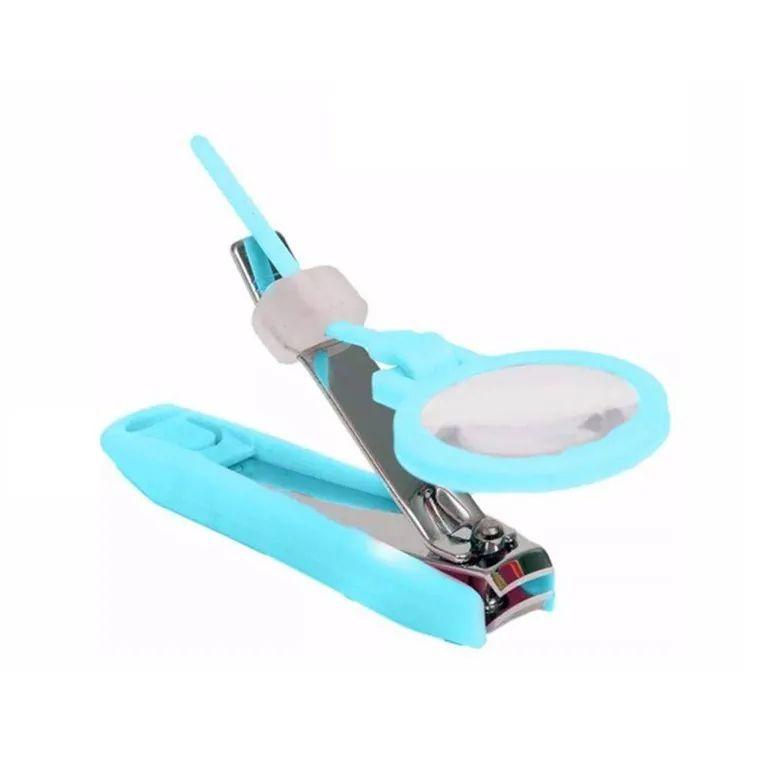Cortador de Unhas com Lupa Buba Azul