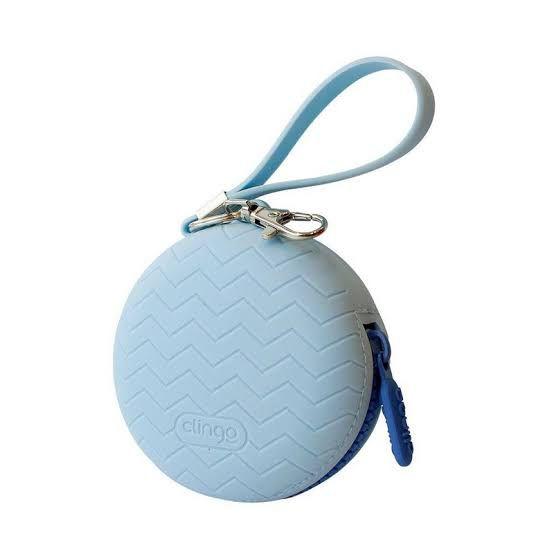 Porta chupeta em silicone Clingo Azul