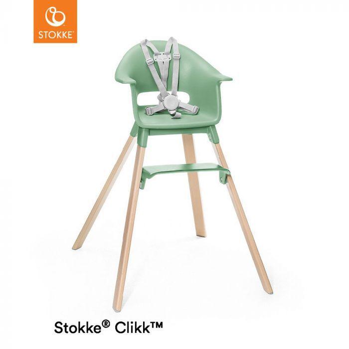 Cadeira de Alimentação com Bandeja e Cinto Stokke Clikk Verde