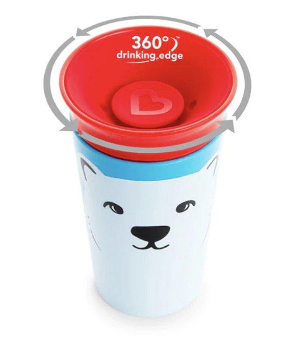 Copo de treinamento 360° Munchkin Wild Urso Polar