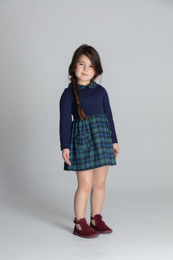 Vestido Hortelá Marinho Nutti