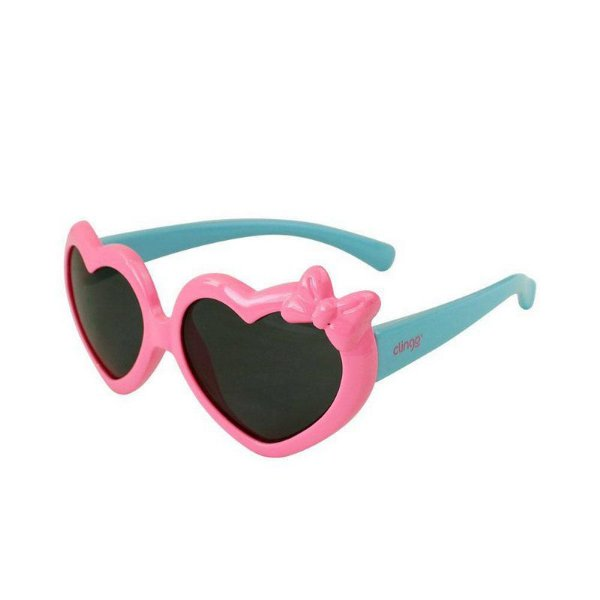 Óculos de Sol Coração Rosa/ Azul Clingo
