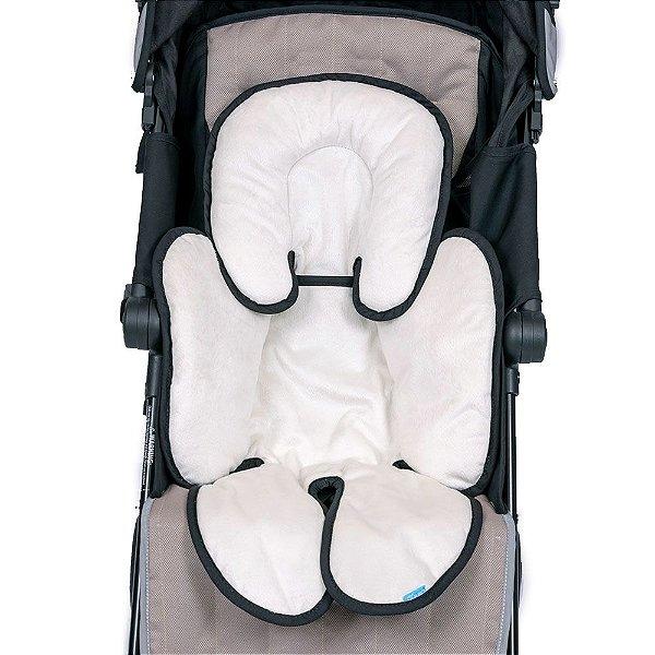 Almofada para Bebê Conforto e Carrinho branco com preto Clingo
