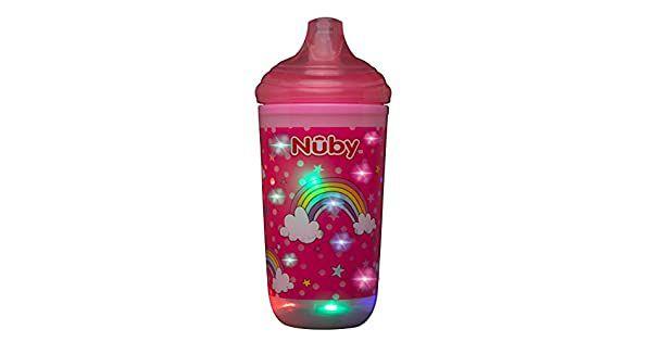 Copo Térmico com Bico Rígido Pisca Pisca Rosa (300ml)