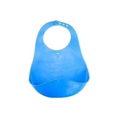 Babador de Silicone com bolsa cata-migalhas