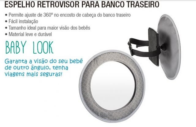 Espelho Retrovisor para Banco Traseiro MultiKids