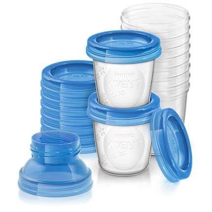 Copos para armazenamento de leite Avent