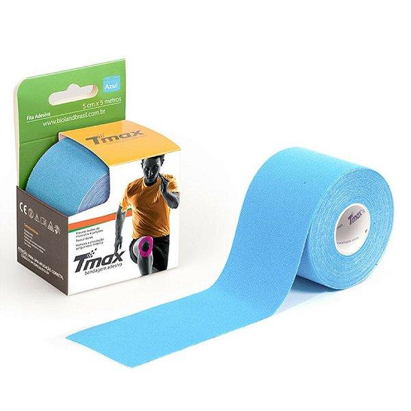 Bandagem elástica adesiva TMAX 5Mx5cm Azul