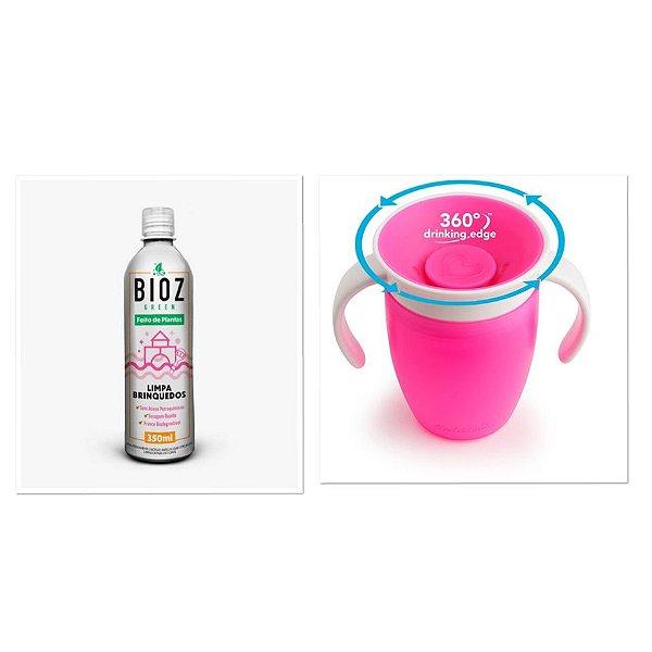 Kit Promocional Fran Rosa (Copo e Limpa Brinquedos)