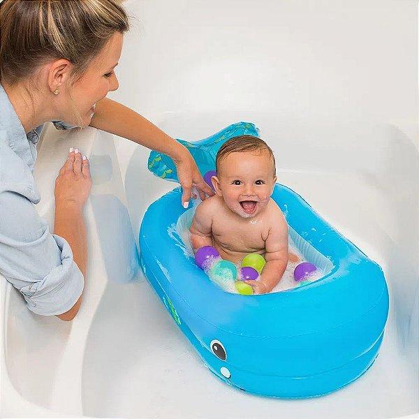 Banheira Inflável Baleia Infantino