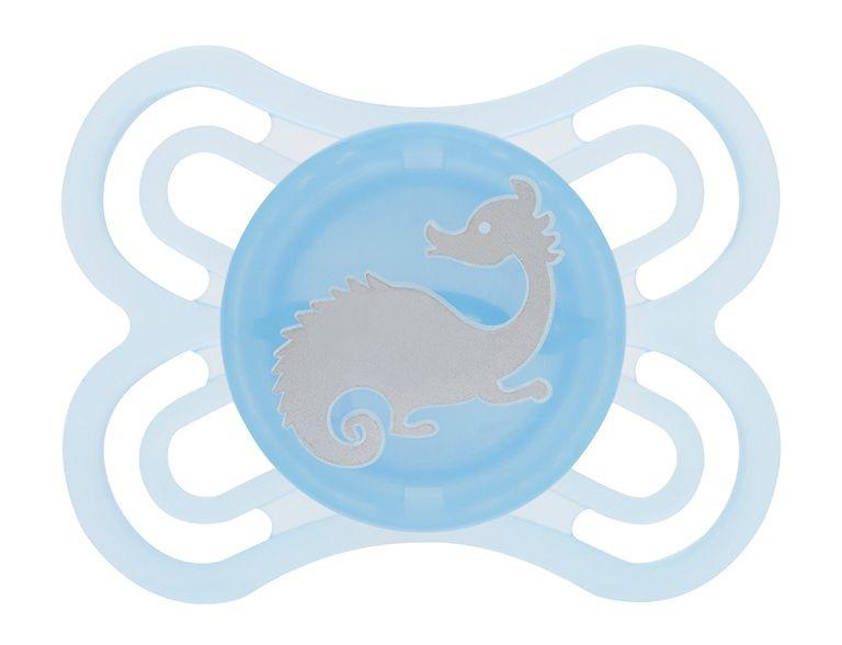 Chupeta MAM Perfect Silk Touch 0-6 meses Azul Auto-esterelizável