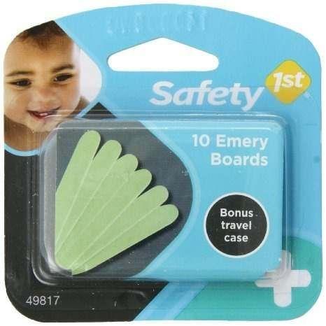 Kit com 10 lixas de unha para bebê - Safety 1st (lixa)