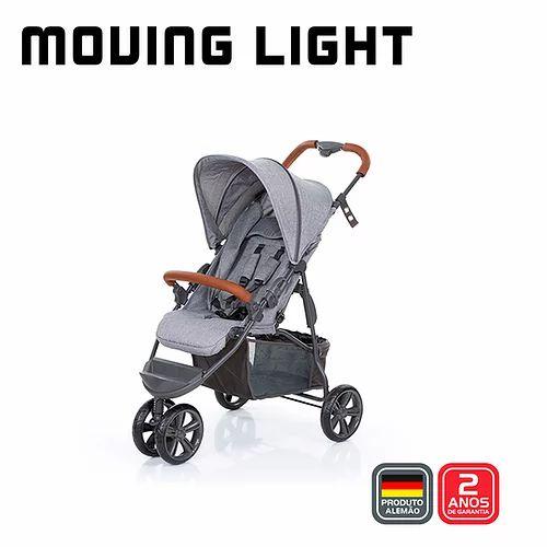 Carrinho Moving Light Woven Grey com Couro