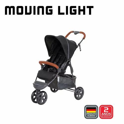 Carrinho Moving Light Woven Black com Couro