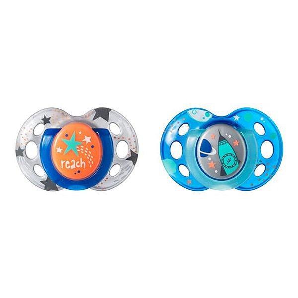 Chupeta Night Time Tommee Tippee 2 Und -18-36 M Cinza com Azul - TT016