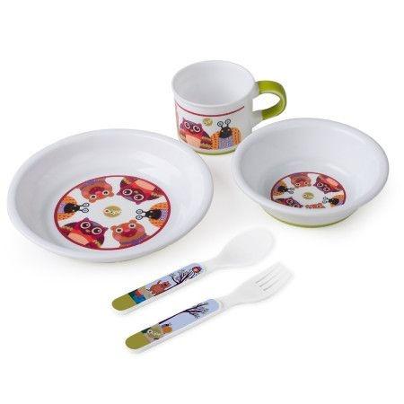Kit Desmame (2 pratos, caneca e garfo)