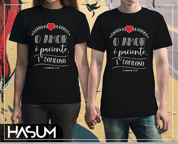 Camisa O amor é paciente, é bondoso