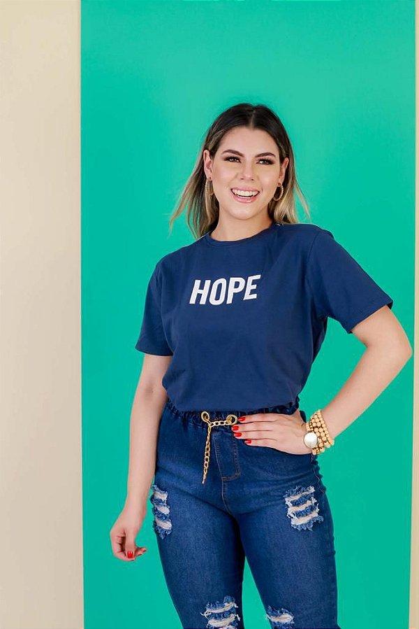 CAMISA  HOPE central (cor azul)