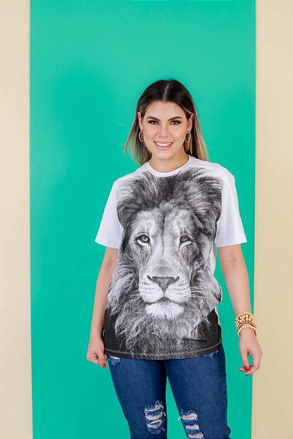 Camisa Leão 3D (cor branca)