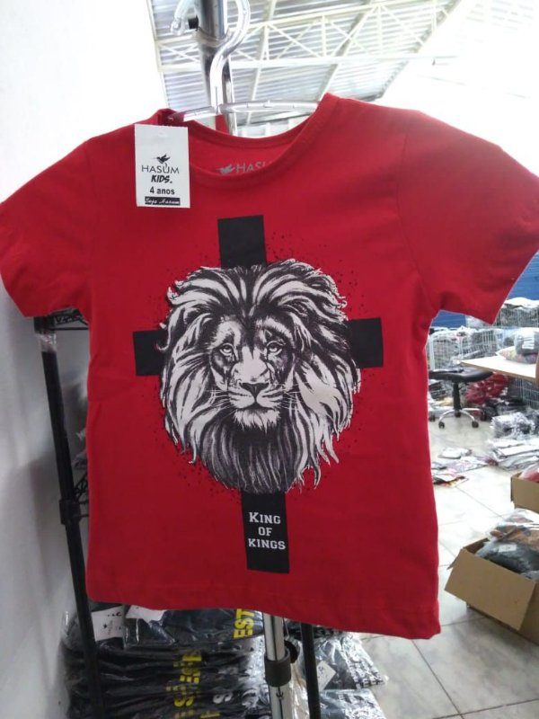 Camisa infantil king of kings vermlha