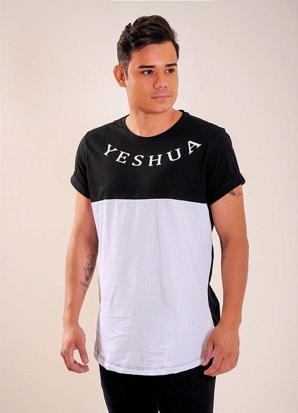 Longline Yeshua black/white UNISSEX