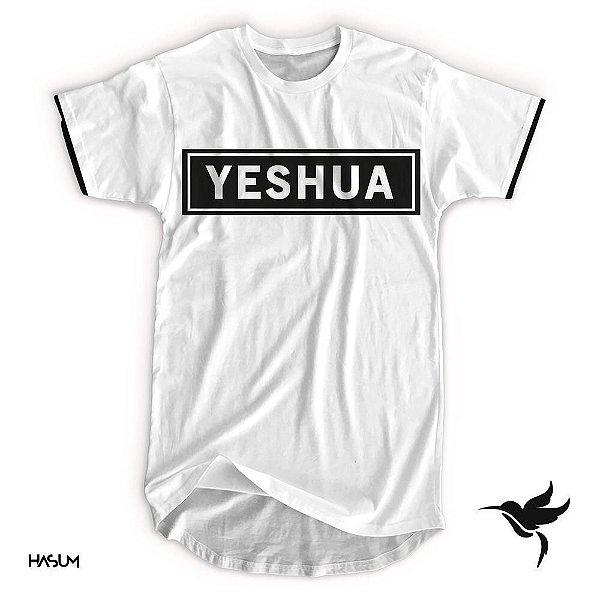 Longline yeshua aplique preto
