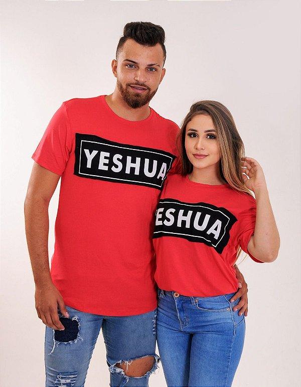 Longline Yeshua aplique- Vermelho