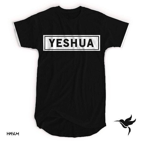 Longline Yeshua aplique- Preta