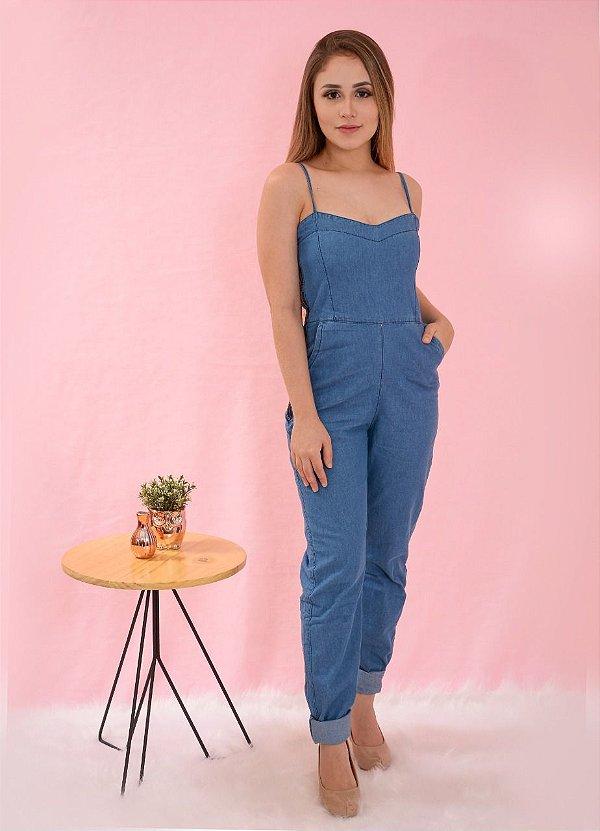 Macacão jeans claro