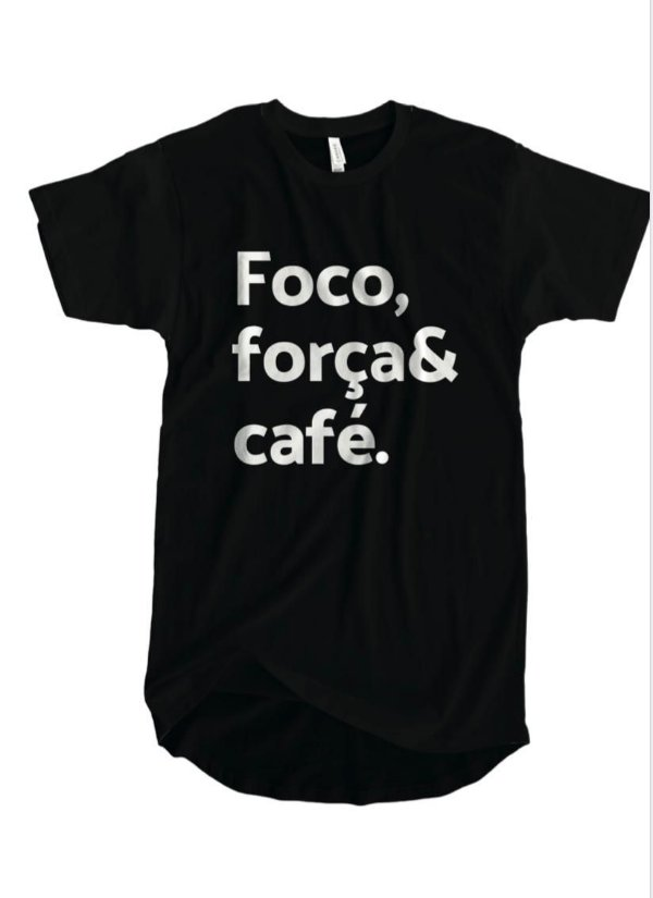 Camiseta FOCO, FORÇA E CAFÉ unissex