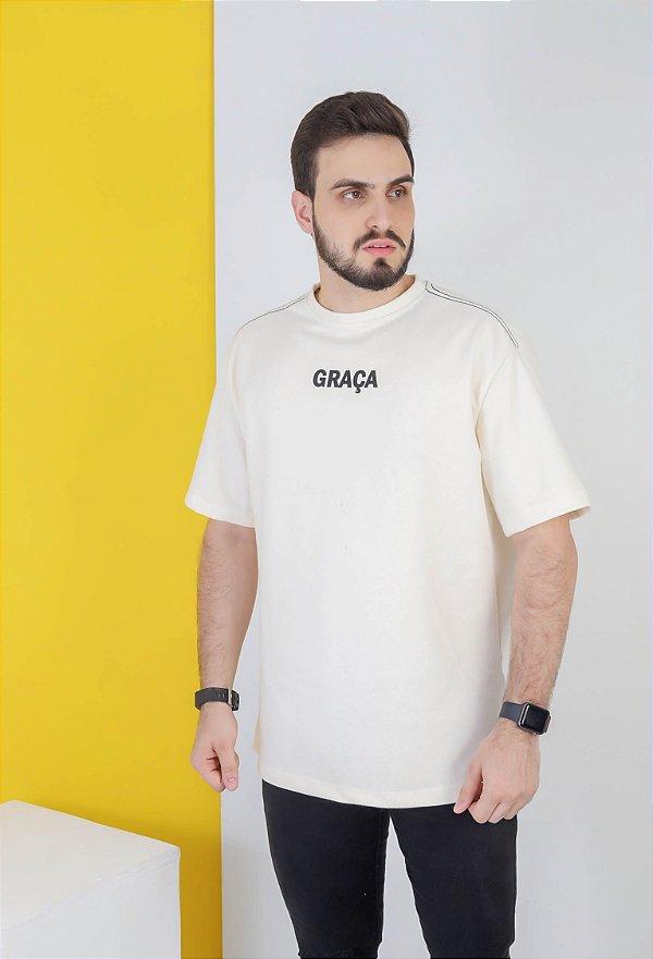 CAMISETA OVERSIZED BRANCA GRAÇA CENTRAL  (UNISSEX)