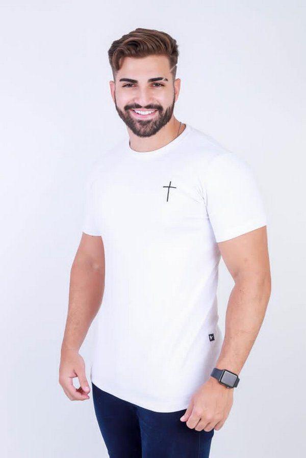 Camisa cruz peito ( branca ) UNISSEX