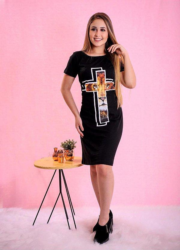 vestido cruz lion (cor preto)