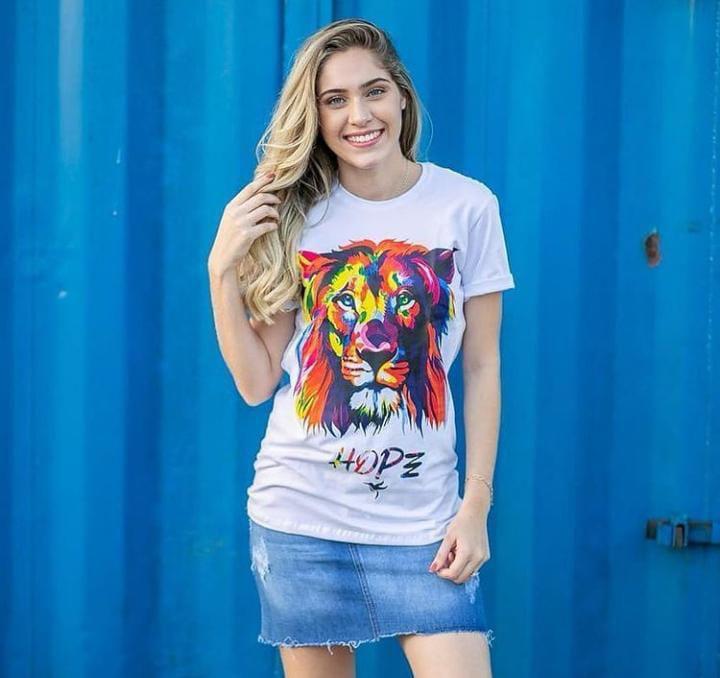 Longline leão cromia (cor branca)