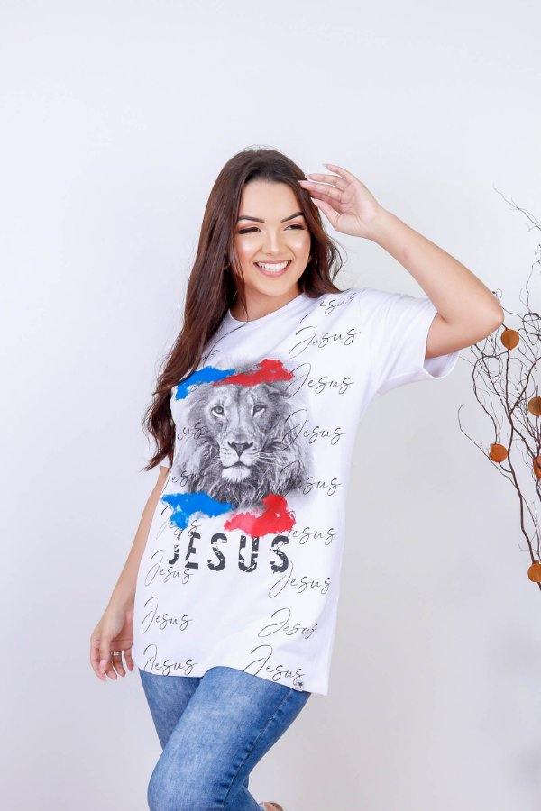 Camiseta Jesus Leão (cor branca) UNISSEX