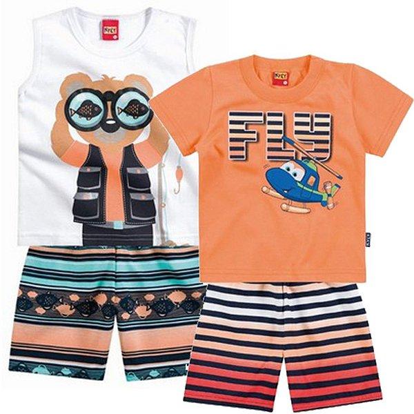 Conjunto Fly - Camiseta e Bermuda + Conjunto Regata com Shorts 2f52f1e83ac