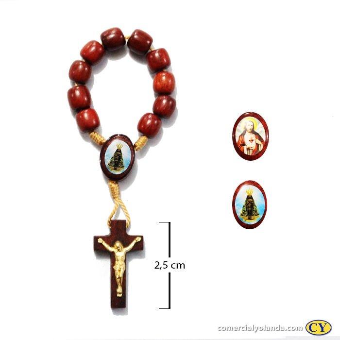 Dezena em madeira de Nossa Senhora Aparecida e Sagrado Coração de Jesus - A Dúzia - 0981